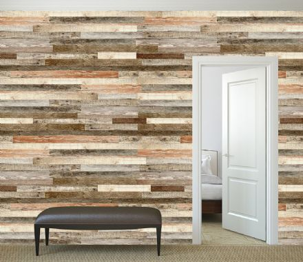 Photo wallpaper Wooden Wall Shade Of Red
